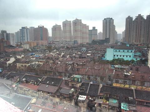 窓から見た上海
