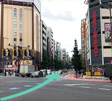 駿河台交差点からオフィス方面の写真